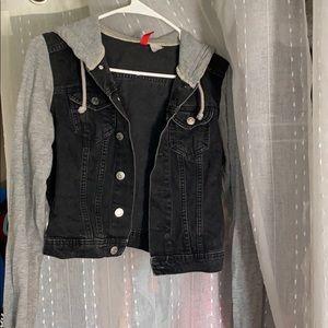 Denim and jersey jacket